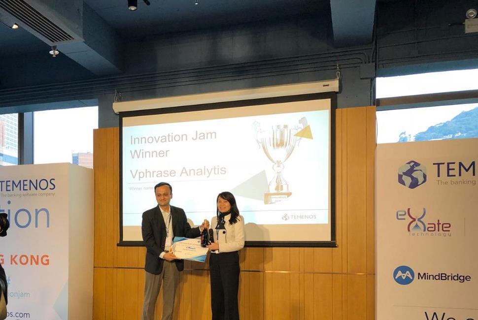 vPhrase wins the Temenos Innovation Jam in Hong Kong